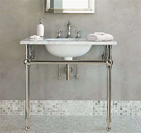 Metal Leg Bathroom Vanity Questions More Affordable Version Of Sink Apartment Therapy
