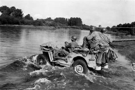 Jeep In River 1944 45 Photos Of Jeeps In Ww2 Ewillys