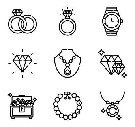 Jewelry Icons   2,355 free vector icons