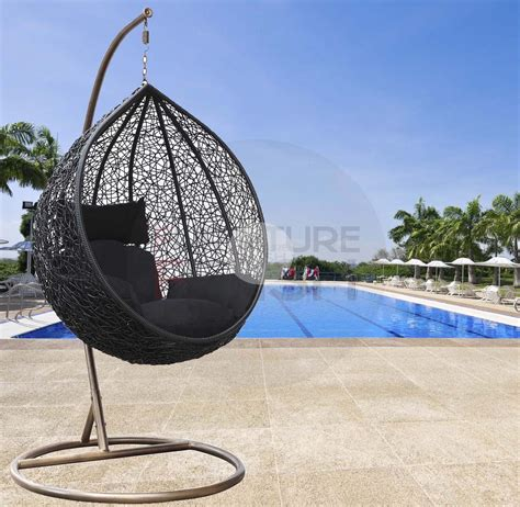 Designerhanging egg chair black buy hanging egg chairs amp hanging chairs furniture fetish