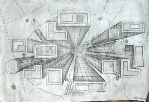 2 Drawings In 1 by 1 Point Perspective Ms Jen Heydt Nelson