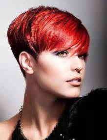 Short hairstyles and cuts short pixie cuts for 2014 with red color