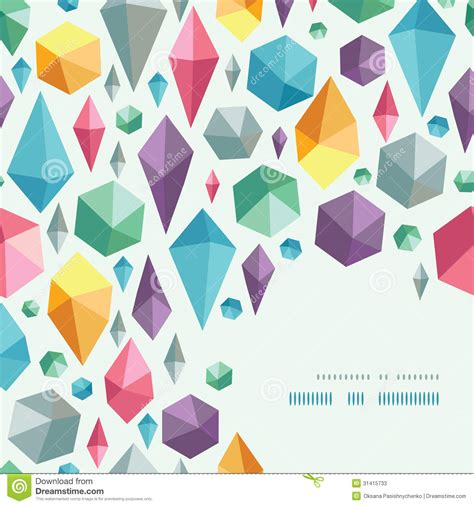 pattern shapes pictures hanging geometric shapes corner pattern background stock