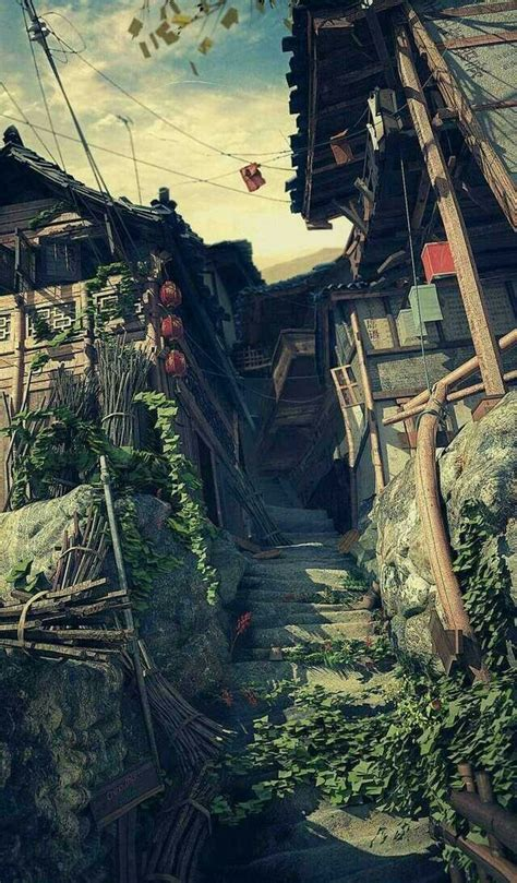 pin   aesthetic fantasy landscape anime scenery