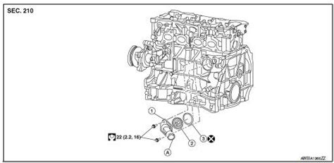 nissan rogue service manual thermostat  water control valve removal  installation