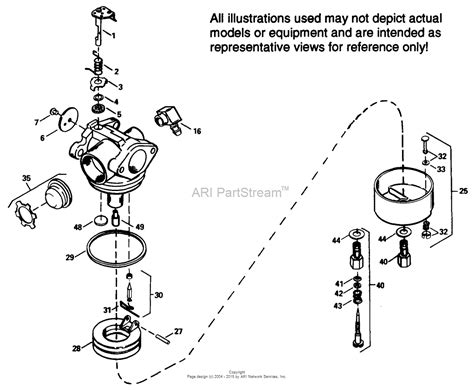 tecumseh tec 632569 parts diagram for carburetor