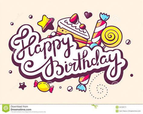 happy birthday text design for facebook illustration of calligraphy text happy birthday with swee