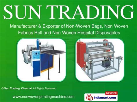 invitation printing machine price in chennai non woven bag printing machines by sun trading chennai chennai