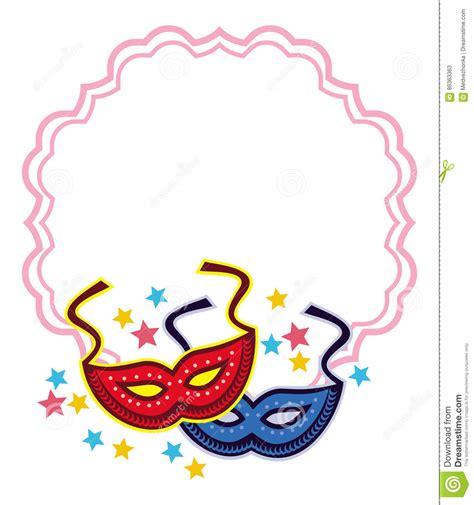 carnevale clipart struttura rotonda di colore con le maschere di carnevale