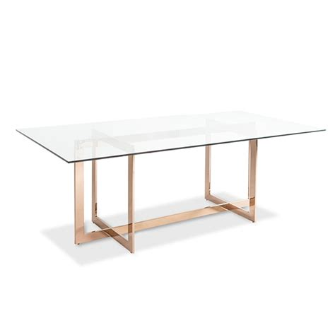 glass dining table carmelina dining table gold unique modern and