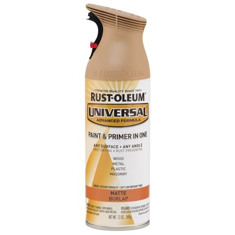 home depot spray paint and primer rust oleum universal 12 oz all surface matte burlap spray