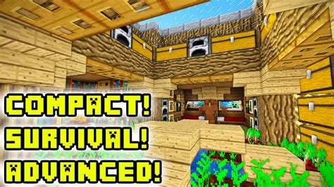 how to build underground house minecraft tutorial advanced underground house build youtube