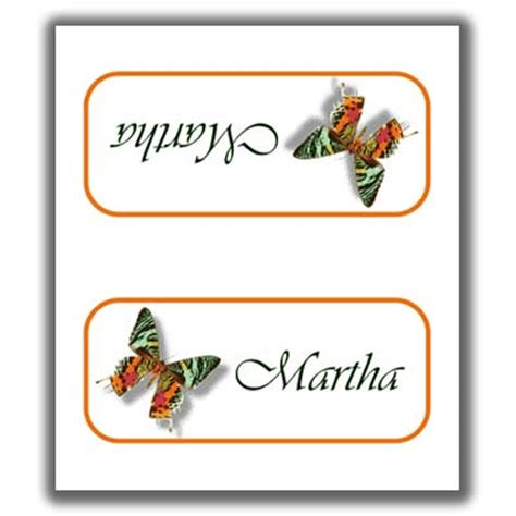 butterfly name card template butterfly place cards 3