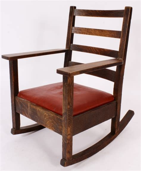 stickley mission style rocking chair stickley style mission oak rocking arm chair 20th