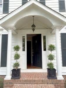 Colonial Front Porch Designs Our Colonial Home The Before Tour Walkways Entryway And Single Doors