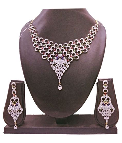 Fancy Errr Things From Shellys by Shelly Silver Fancy Necklace Set Buy Shelly Silver Fancy