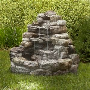 Garden Rock Features Led Outdoor Water Sears
