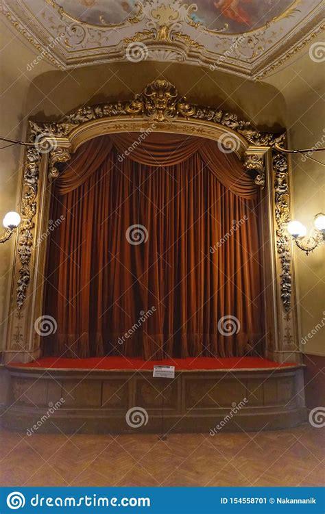 home theater  villa olmo  como editorial photo
