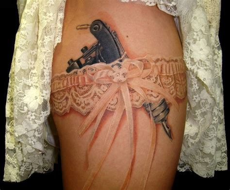 Tattoo Gun In Garter | tattoo gun garter body art pinterest