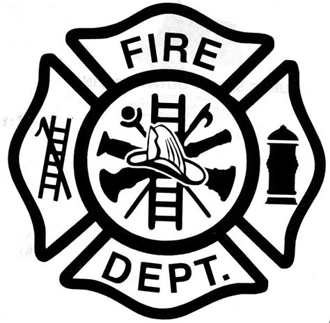 firefighter badge colouring pages education craft