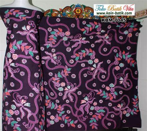 Batik Madura 258 batik madura tumbuhan bercabang dominan ungu kbm 7045