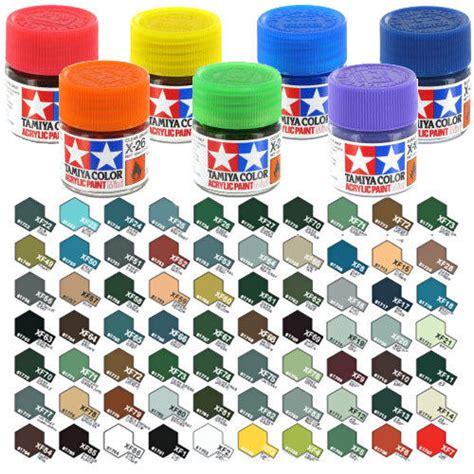 acrylic paint vs enamel for models tamiya acrylic paint 10ml xf 49 to xf 77 choose colour