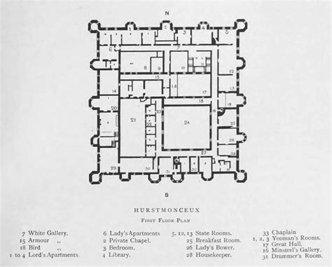 famous castle floor plans hurstmonceux castle