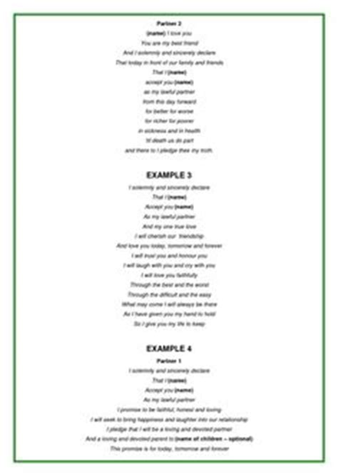Wedding Vow Template exles of wedding vows wedding