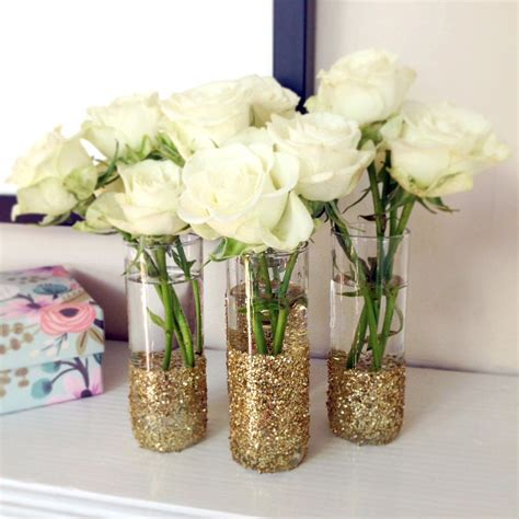 diy glass vase decorations get your glitter on with this glass diy popsugar glass and bridal showers
