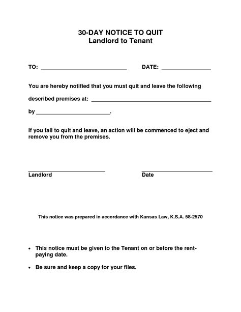 30 day notice to landlord letter template best photos of request to vacate landlord letter of