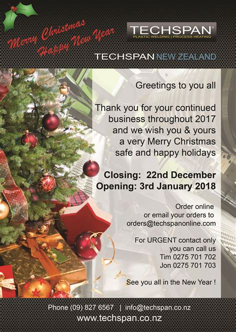 christmas holiday closure   techspan  zealand
