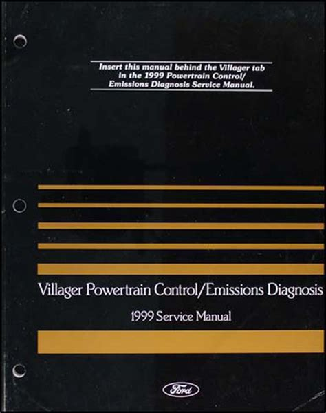 1999 mercury villager engine emissions diagnosis service manual 99 mini van ebay