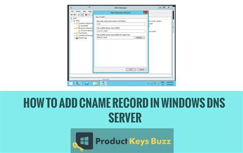 add cname record  windows dns server