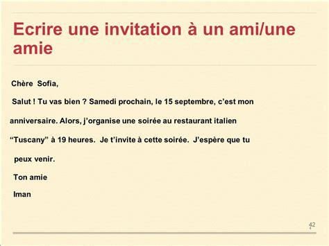 Exemple De Lettre D Invitation Au Restaurant Ppt Ecrire Une Lettre En Italien A Un Ami