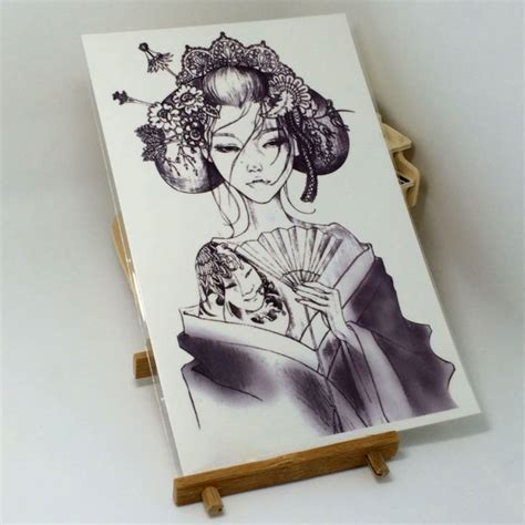 Kimono Tattoo Girl | one piece girl in kimono tattoo sticker on luulla