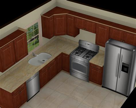 10 X 10 Kitchen Design | foundation dezin decor 3d kitchen model design