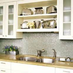 picture of open shelves on kitchen
