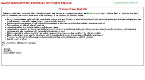 Experience Letter With Description Senior Quantity Surveyor Work Experience Letters