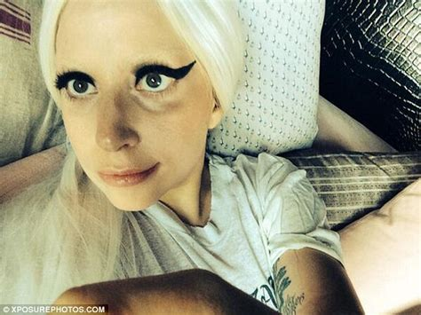 bed selfie lady gaga posts bedtime selfie after a long day of tour