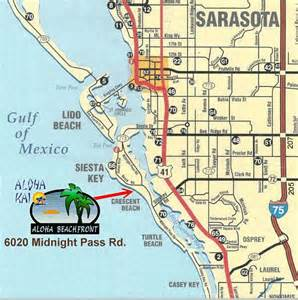 map of sarasota florida beaches aloha beachfront rental apartments aloha 24 siesta