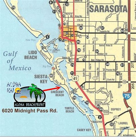 sarasota florida map aloha beachfront rental apartments aloha 24 siesta key sarasota florida gulf view
