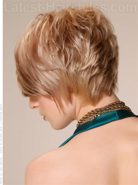 hairstyles with graduated sides graduated bob stacked tapered layers blonde look back view