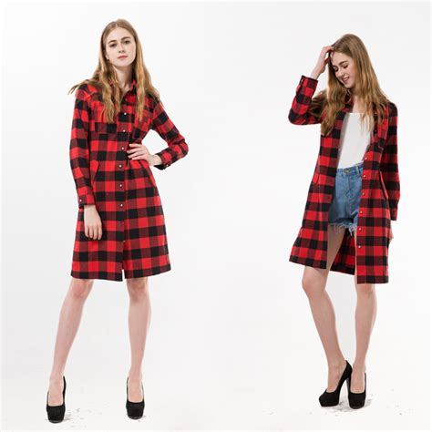 Sabrina Blouse Casual Flanel sleeve plaid shirt blouses autumn casual flannel females shirts dress turn