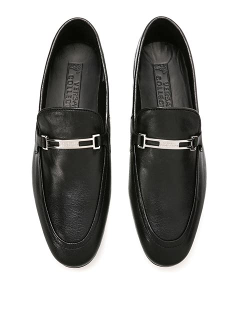 versace leather loafers leather loafers by versace collection loafers slippers