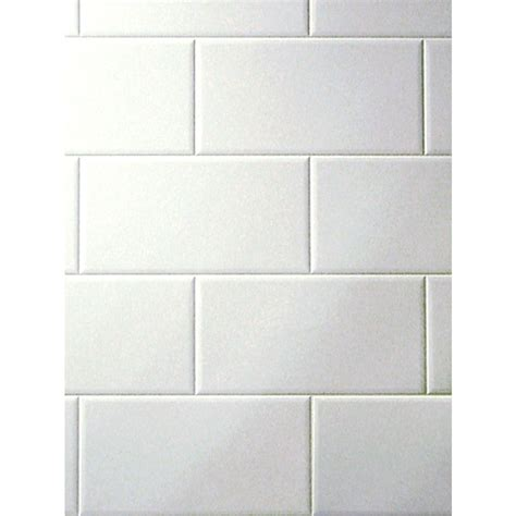 Tile Board For Bathrooms by Fashionwall Metroliner Tempered Hardboard Tileboard Lowe