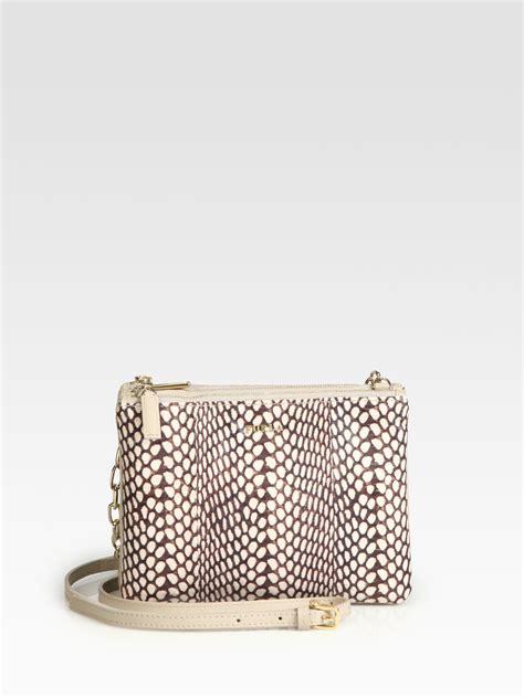 Furla Faux Snake Venere Bow Bag by Furla Small Leather Snakeskin Shoulder Bag In