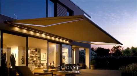 elegant awnings elegant awnings with lights youtube