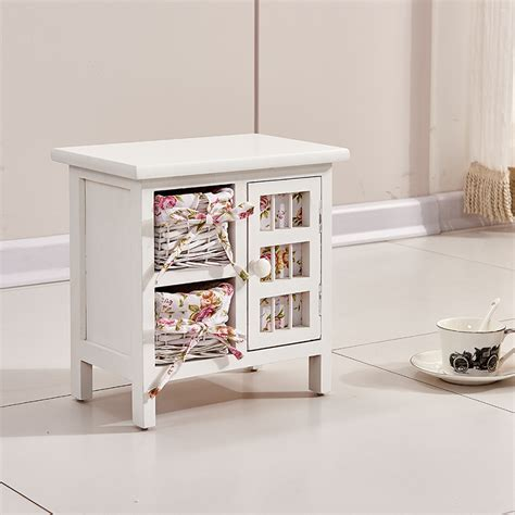 side table with storage baskets coffee wicker drawer and ikea nurani design white side end table storage cabinet with 2 wicker