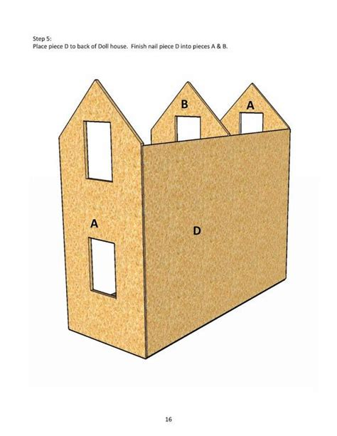 dolls house plans free 18 inch doll house plans free white three story american or 18 quot dollhouse diy