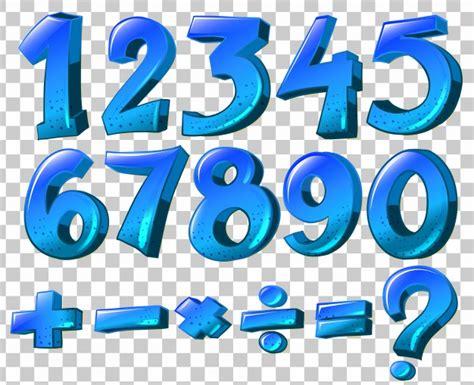 imagenes de numeros sin fondo ilustraci 243 n de los n 250 meros y los s 237 mbolos matem 225 ticos en
